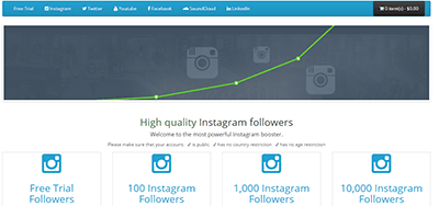buysocialmediafollowers screenshot - Buy Followers Review