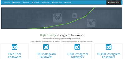 buysocialmediafollowers screenshot - Buy Followers Review
